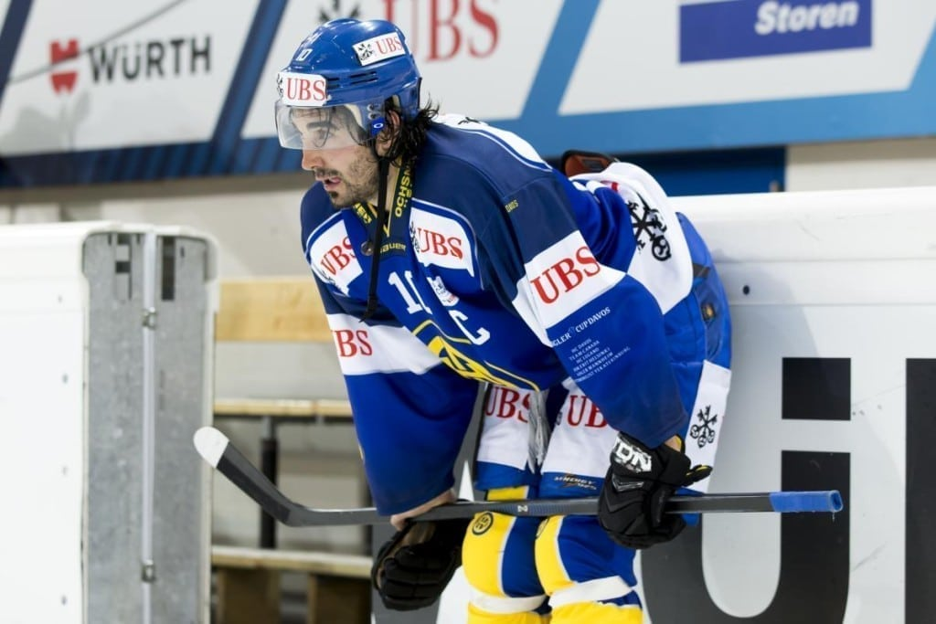 Disappointment by Davos' Andres Ambuehl after the game between Switzerland's HC Davos and Team Canada at the 89th Spengler Cup ice hockey tournament in Davos, Switzerland, Wednesday, December 30, 2015. (EQ Images/Pascal Muller)